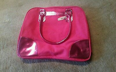 VICTORIA'S SECRET Hot Metallic Pink Luggage Tote Vacation Travel Carry On Bag