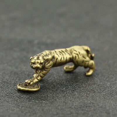 30MM Small Curio China Bronze 12 Zodiac Animal Snake Yuanbao Money Wealth Statue