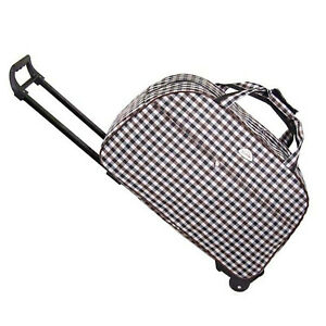 14-034-Rolling-Wheeled-Duffle-Bag-Tote-Carry-On-Travel-Suitcase-Luggage-Lighweight