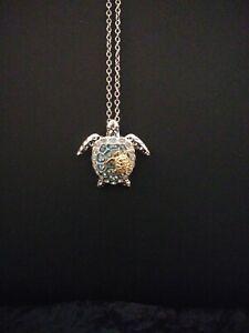 Silver-and-Gold-Sea-Turtle-Rhinestone-Pendant