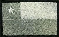 Chile Flag Iron-on Tactical Patch White & Gray Black Border 14