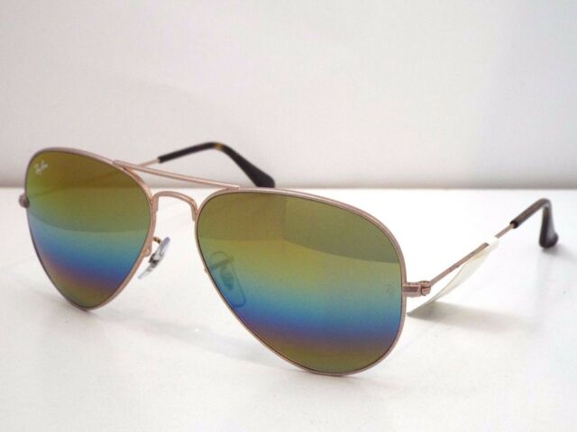 77145aca3c9 Authentic Ray-Ban RB 3025 9020 C4 Bronze-Copper Gold Rainbow Sunglasses  225