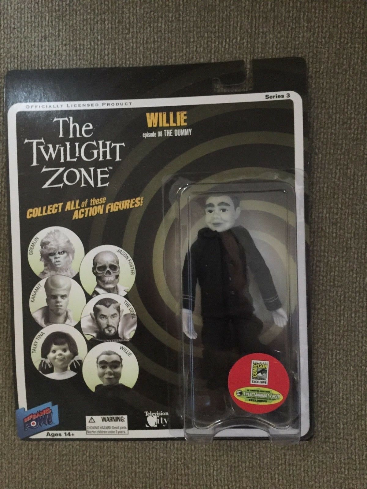 Bif peng peng twilight zone series 3 abbildung willie comic - con - exklusive.
