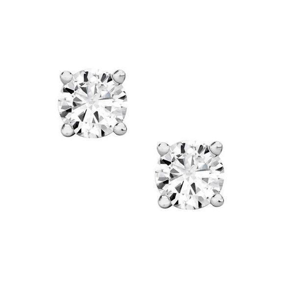 0.20 ct ROUND CUT diamond stud earrings 14 KT WHITE gold ALL NATURAL