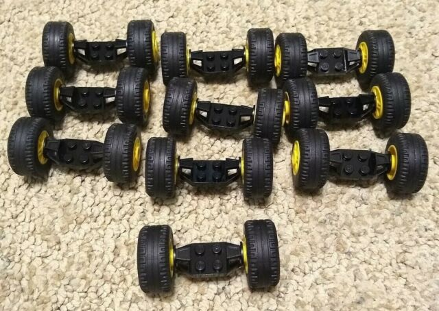 Lego 30.4 X 14 Tire Wheel and Technic Axles Bulk Lot 50 Pieces Total NEW