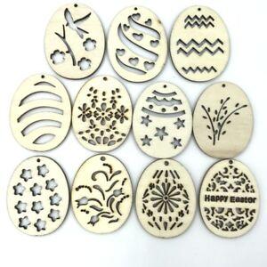 40pcs-Natural-Wood-Pendant-Easter-Egg-pattern-Home-Decoration-Scrapbooking-40mm