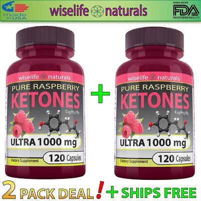 2x Raspberry Ketones Colon Cleanse 1000mg 120 Caps Detox Lose Weight Fast Pills Ebay