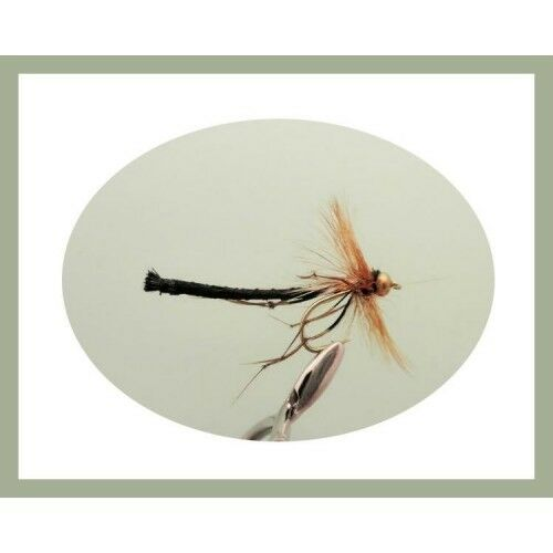 Daddy Long Legs Trout Fly 6 x goldhead Black Detached body Size 10 Fly Fishing