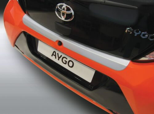 396 RBP * RGM REAR BUMPER PAINT PROTECTOR TOYOTA AYGO 7.14/> SILVER ABS PLASTIC