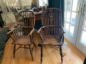 Pair-of-Antique-Windsor-Chairs