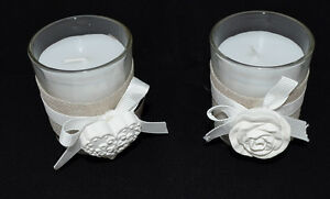 Duftkerze Im Glas Mit Jute Rosenduft Kerze Mit Rose Oder Herz