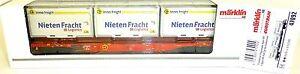 Container-Tragwagen-Sgns-NIETEN-FRACHT-DBAG-Ep6-Maerklin-47092-H0-OVP-NEU-HJ3