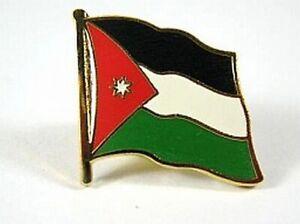 Jordanien-Flaggen-Pin-Anstecker-1-5-cm-Neu-mit-Druckverschluss