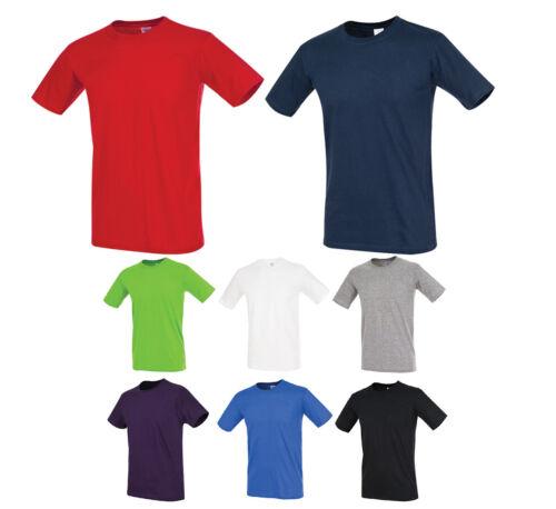 Klassisches Herren T-Shirt Rundhals Slim Body Fit