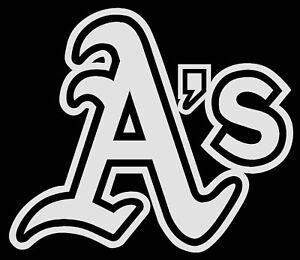 Oakland Athletics A S Logo Car Decal Vinyl Sticker White 3 Sizes Ebay
