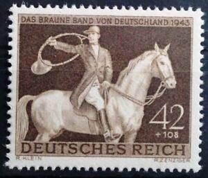 THIRD-REICH-1943-mint-MNH-Braunes-Band-Horse-Race-stamp-99-CENT-SPECIAL