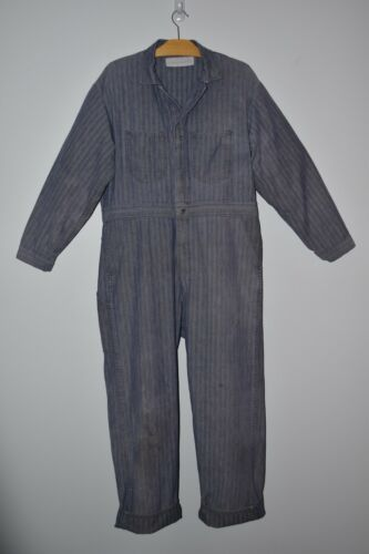 Vintage DISTRESSED DENIM Coveralls ANDROGYNOUS Wor