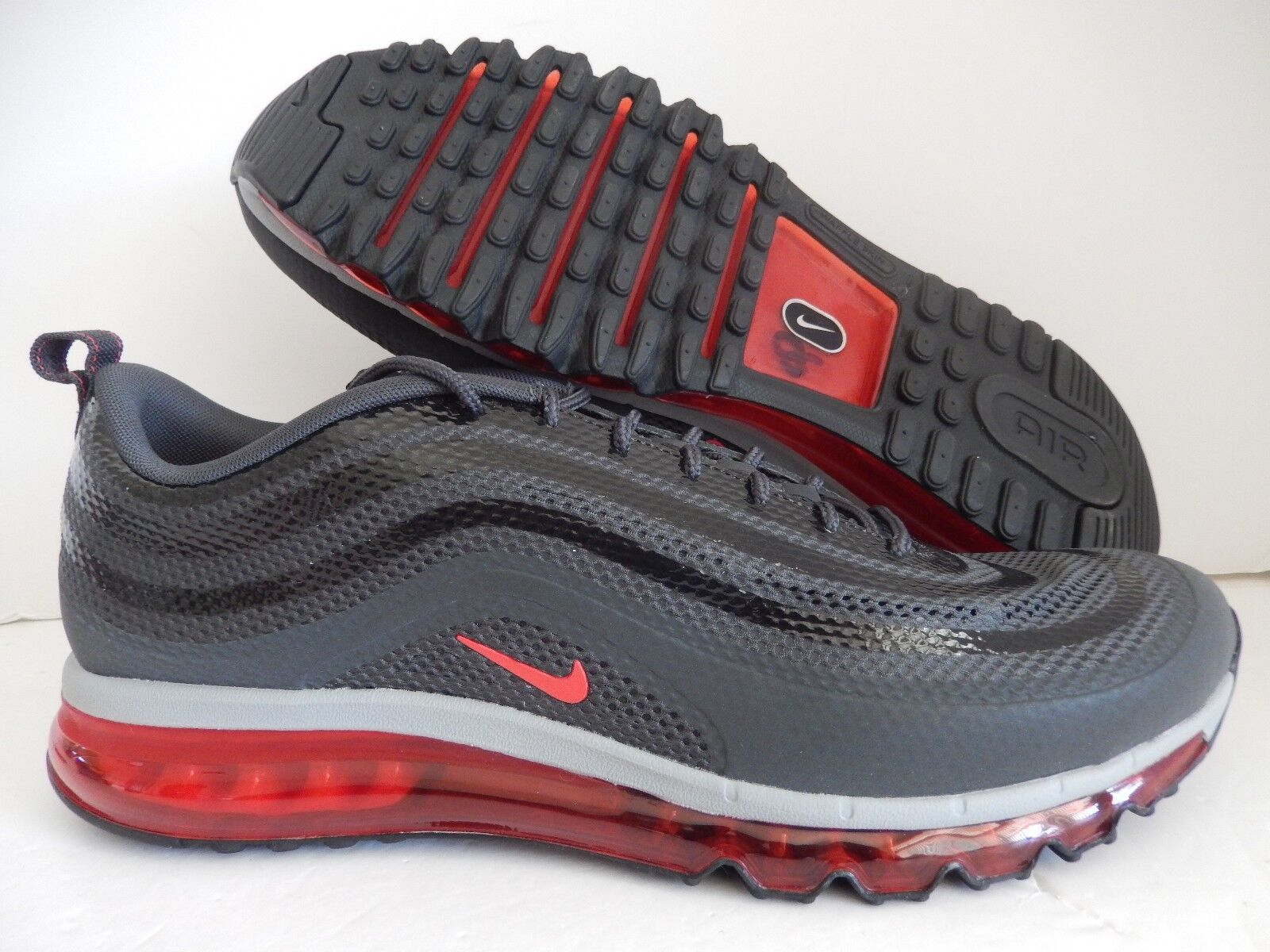 NIKE AIR MAX 97 2018 HYP HYPERFUSE ANTHRACITE-RED-GRY-BLACK SZ 12 [631753-002]