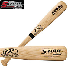 RAWLINGS ONE HAND WOOD BAT TRAINING BAT FOR SOFT TOSS AND BATTING TEE DRILLS