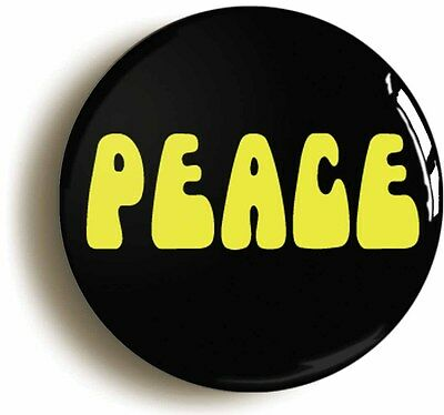 PEACE SIXTIES RETRO BADGE BUTTON PIN (1inch/25mm diameter) 1960s HIPPIE