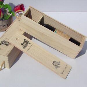 Image is loading Retro-Red-Wine-Box-Portable-Gift-Pine-Wood- & Retro Red Wine Box Portable Gift Pine Wood Wine Storage Box Wine ...