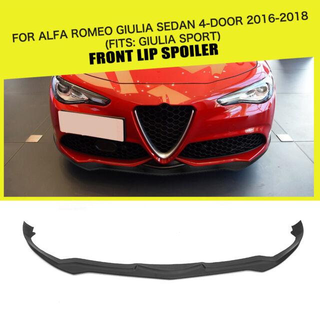 Front Bumper Lip Spoiler Body Kit For Alfa Romeo Giulia