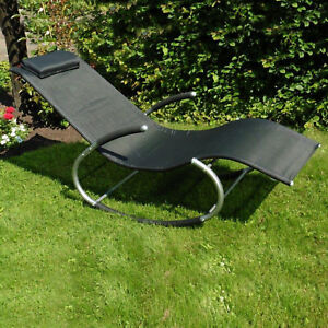 Schaukelliege Siesta Sonnenliege Garten Relaxliege Mit Kissen