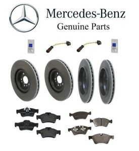 For Mercedes-Benz GL350 GL450 GL550 GLE63 AMG Rear Brake Rotors and Ceramic Pads