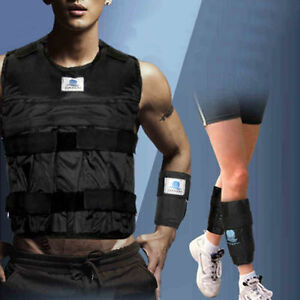 44LBS-Adjustable-Weighted-Vest-Strength-Training-Jacket-Exercise