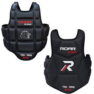 ROAR-MMA-Boxing-Chest-Guard-Kickboxing-Training-Gear-TKD-Armour-Body-Protector