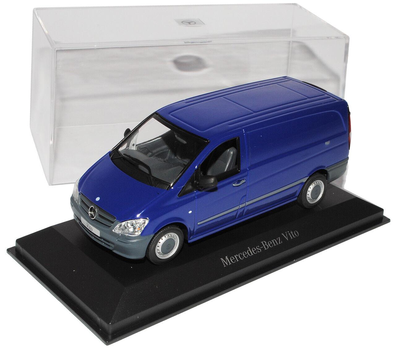 Mercedes-Benz Vito azul recuadro Transporter a a a partir de Facelift 2010 w639 1 43 minicham... f0b3ac