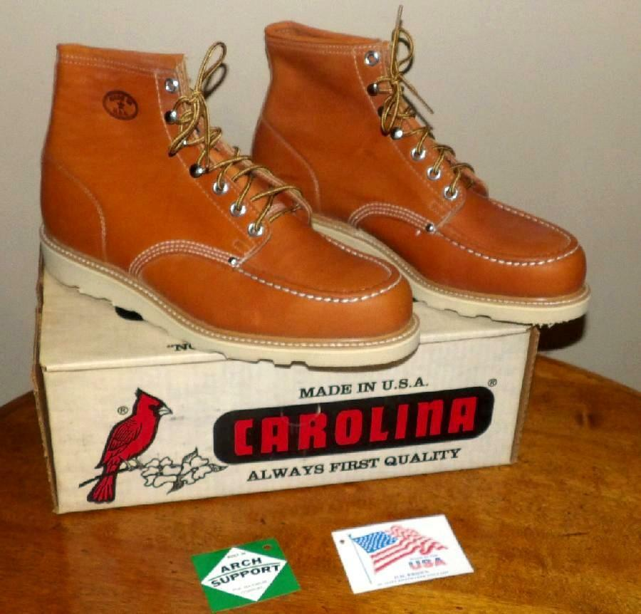 Para Hombre Carolina W Made Usa estampado de trabajo de cazar botas de cuero nuevo en caja