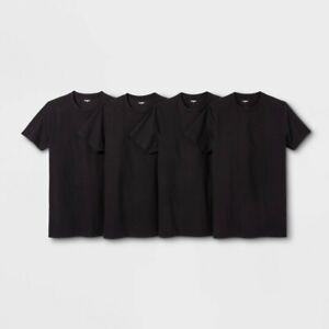Goodfellow-amp-Co-Men-039-s-Crew-Neck-Short-Sleeve-T-Shirt-4pk-Black-M