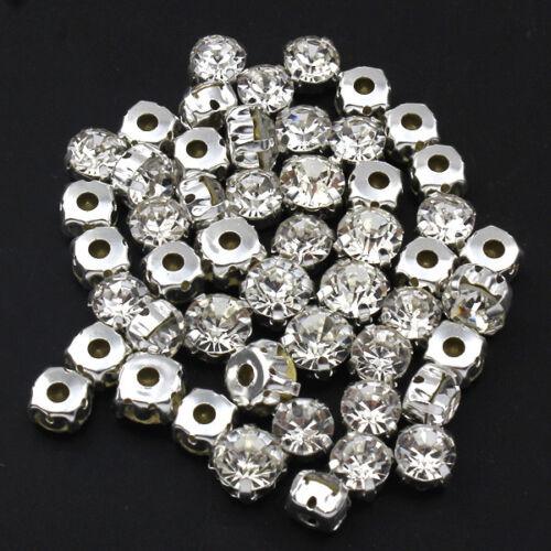 Pedrería claramente 7-8mm 50 trozo aufnähen pedrería piedras fosforescentes-p00kn0012x3