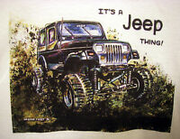 Mud Truck T-shirt 4x4 Offroad Lifted Jeep Thing Bogger White Tee Mudder