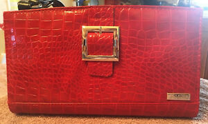 Miche-Classic-Purse-Bag-Shell-Buckle-Red-Crocodile-Look-Leather-ss-B8