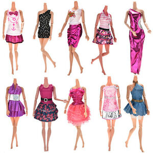 10Pcs-Fashion-Party-Dresses-Clothes-Gown-For-Barbie-Dolls-Girls-Random-Pick-item