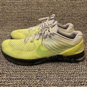 Nike Metcon DSX Flyknit Volt Yellow/Grey Mens Trainer Shoes Size 13 852930-701