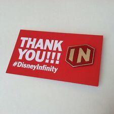 "2016 E3 Disney Infinity Logo Lapel Pin 1"" Signed Card Evilos Patreon Rad Crate"