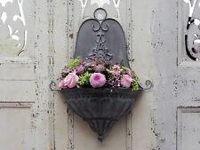 Parete in metallo da giardino Vaso Da Fiori Scatola di finestra IMPIANTO Stile Vintage Antico