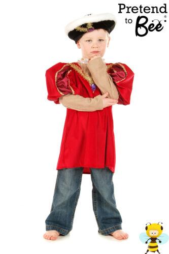 Tudor King Henry VIII 8 fancy dress up BNIP 3-9y Book Week Costume Boys History