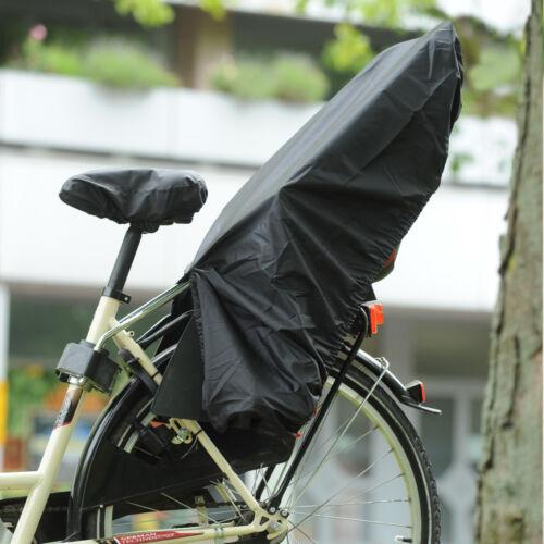 Regenschutz für Fahrrad-Kindersitz mit Schloss Trockolino sicuro in schwarz