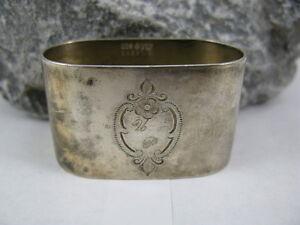 Vintage Wilkens Serviettenring 800 Er Silber Lassen Sie Unsere Waren In Die Welt Gehen Objekte Vor 1945
