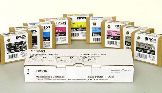Original Tinte EPSON Stylus Pro 3800 / T5802 T5804 T5805 T5806 T5807 -T5809
