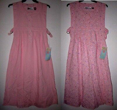 GITANO MA Pink Retro Jumper Empire Waist Sleeveless Pregnant Maternity Dress NWT