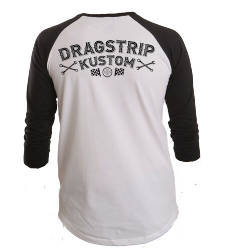 Dragstrip Clothing American Baseball top East Side Kustom Hot Rod Baseball Top
