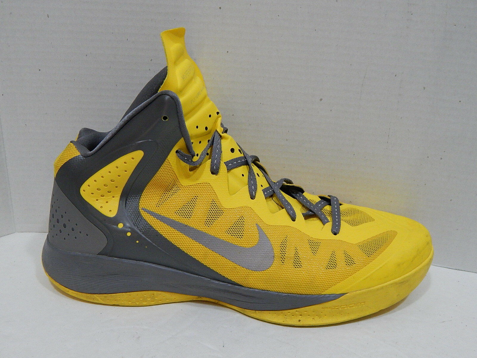 NIKE ZOOM HYPERENFORCER SHOES BASKETBALL DEL SOL YELLOW US SIZE 17