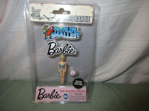 Rare 2018 World/'s Smallest Barbie 1959 Reproduction mini glasses NEW tiny toy