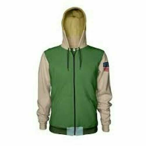 Numskull Capcom Street Fighter Guile Zip Hoodie Size Large - Green - New