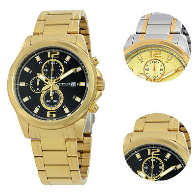 Citizen Gold Chronograph Sports Stainless Steel Mens Watch
